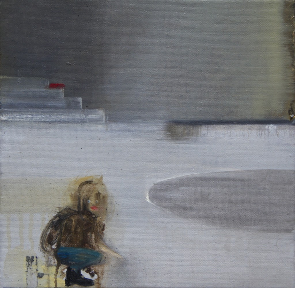 Kristin Kelich, Untitled, oil on canvas, 30 x 30cm, 2014